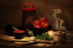 Het stilleven van de keuken Royalty-vrije Stock Afbeeldingen