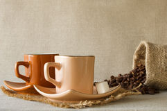 Het stilleven van de koffie Stock Afbeeldingen