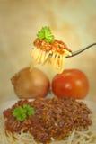 Het stilleven van de spaghetti in oude stijl Stock Fotografie