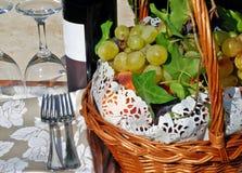 Het stilleven van de wijn royalty-vrije stock foto's