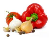 Het stilleven van groenten stock foto's