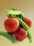 Het stilleven van groenten Stock Afbeeldingen