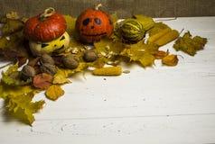 Het stilleven van Halloween Stock Foto's