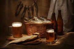 Het stilleven van het bier Stock Afbeeldingen