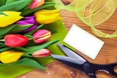 Het stilleven van het de bloemboeket van de bloemist royalty-vrije stock fotografie