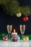 Het stilleven van het nieuwjaar Stock Foto's