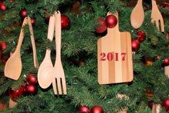 Het stilleven van het nieuwjaar Stock Afbeelding