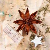Het stilleven van Kerstmis van Grunge Royalty-vrije Stock Afbeeldingen