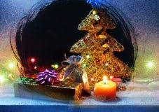 Het stilleven van Kerstmisgiften Stock Foto
