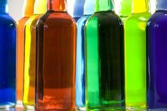 Het Stilleven van kleurenflessen Royalty-vrije Stock Foto