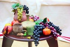 Het stilleven van vruchten stock foto's