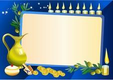 Het stillevenachtergrond van de Chanoeka royalty-vrije illustratie
