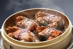 Het stomen van de harige krabben van Shanghai, Chinese keuken royalty-vrije stock foto's