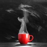 Het stomen van de Kop van de Koffie Stock Afbeelding