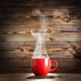 Het stomen van de Kop van de Koffie Stock Foto