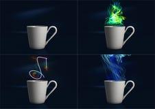 Het stomen van Digitale Koffiekop Royalty-vrije Stock Foto
