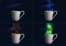 Het stomen van Digitale Koffiekop Royalty-vrije Stock Afbeeldingen