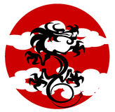 Het stomen van draak stock illustratie
