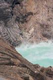 Het stomen van het Groene Meer van de Vulkaan Royalty-vrije Stock Foto's