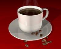 Het stomen van hete koffie Royalty-vrije Stock Afbeelding