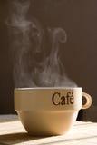 Het stomen van kop van koffie Royalty-vrije Stock Foto