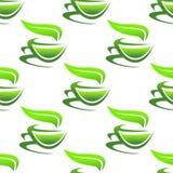 Het stomen van koppen van groene thee Stock Afbeeldingen