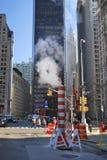 Het stomen van riolen, New York Stock Fotografie