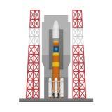Het stootkussen van de raketlancering royalty-vrije illustratie