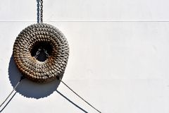 Het stootkussen van het torusschip van geweven kabel royalty-vrije stock foto's