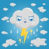 Het stormachtige regenen en de donder van het wolkenkarakter Stock Foto