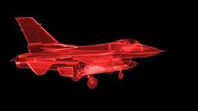 Het straal Netwerk van de Vliegtuigen van de Vechter vector illustratie