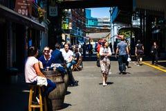 Het straatleven in Londen Stock Fotografie