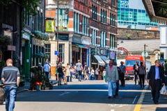 Het straatleven in Londen Stock Foto's