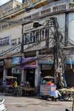 Het straatleven in Oud Delhi, India Stock Afbeeldingen