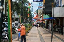 Het straatleven in Pekanbaru Indonesië royalty-vrije stock fotografie