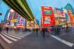 Het straatleven in Shinjuku 28 Maart, 2016 Stock Afbeelding