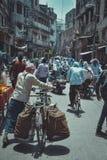 Het straatleven in Varanasi, India Stock Fotografie
