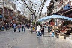 Het straatleven in Xian, China Stock Fotografie