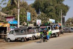 Het straatleven in Yangon, Myanmar Stock Afbeelding