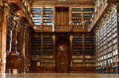 Het Strahov-bibliotheekbinnenland Royalty-vrije Stock Afbeeldingen
