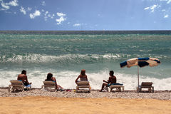 In het strand stock fotografie