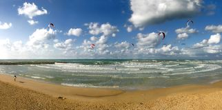 Het strand. stock fotografie