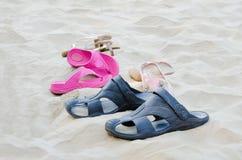 In het strand Stock Afbeelding