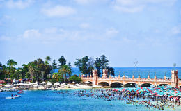 Het strand, Alexandrië Egypte Royalty-vrije Stock Afbeeldingen