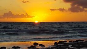 Het Strand Australië van Aldinga van de Aldingazonsondergang Stock Fotografie