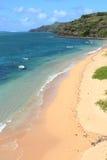 Het strand in Baladirou, Rodrigues Island stock afbeeldingen