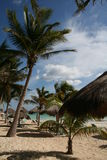 Het strand bij Playa del Carmen - Mexico Royalty-vrije Stock Afbeelding