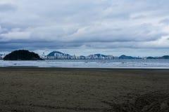 Het strand Brazilië van Saovicente stock fotografie