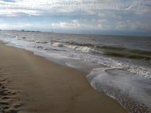Het strand Brugge België van Noordzeemonroe royalty-vrije stock afbeeldingen