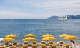 Het strand Cannes van Croisette Stock Afbeelding
